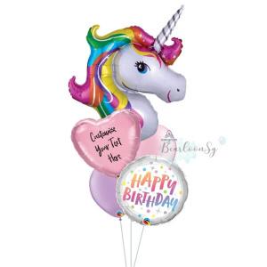 [Supershape] Rainbow Unicorn Balloon Bouquet