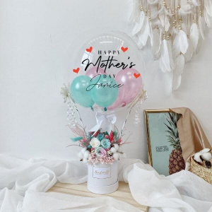 Mint & Pink Everlasting Hot Air Balloon