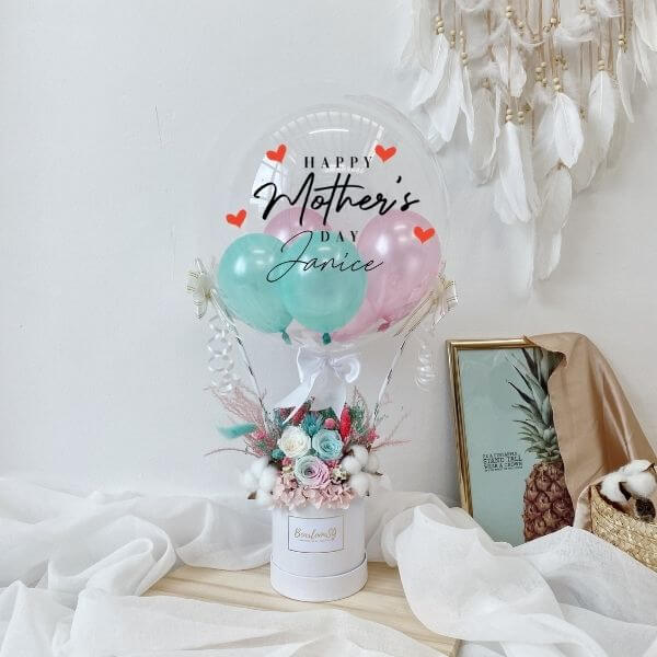 Mint & Pink Everlasting Hot Air Balloon