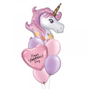 Purple Unicorn Personalised Balloon Bouquet