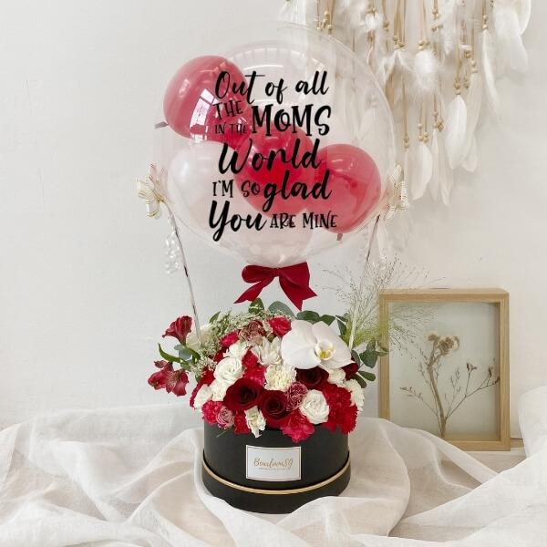 Deepest Affection Hot Air Balloon (Fresh Flower) - Regular