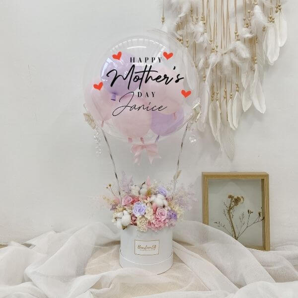 [Regular] Pink & Purple Everlasting Hot Air Balloon