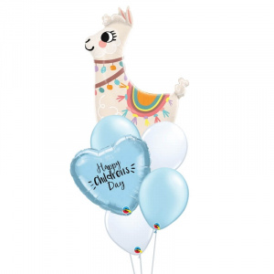 Llama Personalised Balloon Bouquet