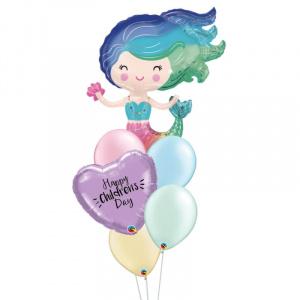 Mermaid Personalised Balloon Bouquet