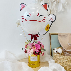 3D Fortune Cat Hot Air Balloon - 1