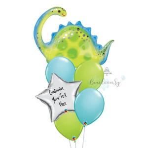 Brontosaurus Personalised Balloon Bouquet