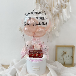 Baby Girl Newborn Hamper With Birdnest