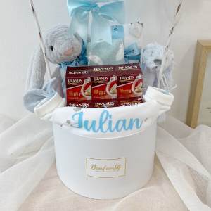 Baby Boy Newborn Hamper With Birdnest