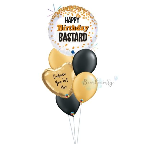 Happy Birthday B*stard Balloon Bouquet