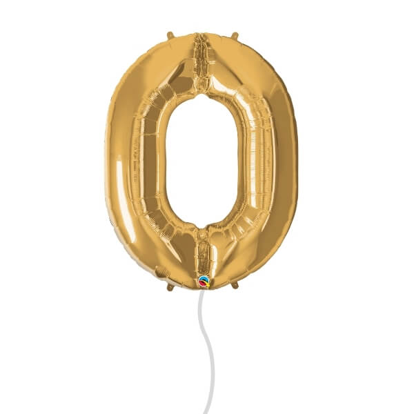 Number Foil Balloon (0 Gold)
