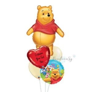 [Supershape] Winnie The Pooh Birthday Balloon Bouquet