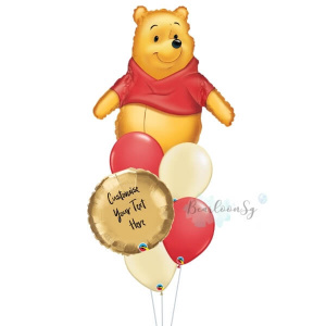 Winnie The Pooh Personalised Balloon Bouquet