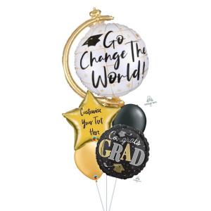 [Supershape] Go Change The World Balloon Bouquet