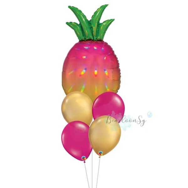 [Supershape] Iridescent Pineapple Balloon Bouquet