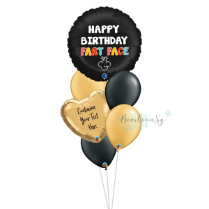 Happy Birthday F*rt Face Balloon Bouquet