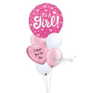 It's A Girl Balloon Bouquet