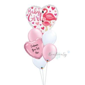 Flamingo Baby Girl Balloon Bouquet