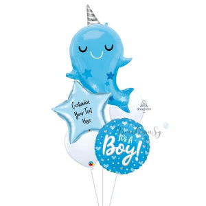 [Supershape] Baby Narwhal Balloon Bouquet