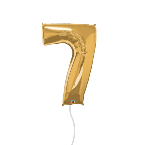 Number Foil Balloon (7 Gold)