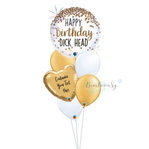 Happy Birthday D*ckhead Balloon Bouquet