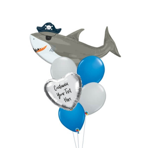 Ahoy Shark Personalised Balloon Bouquet