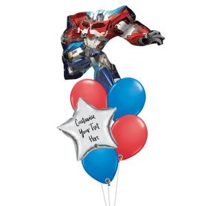 Optimus Prime Personalised Balloon Bouquet