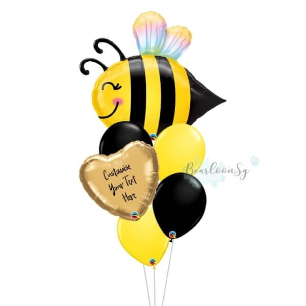 Sweet Bee Personalised Balloon Bouquet