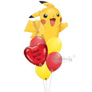 Pikachu Personalised Balloon Bouquet