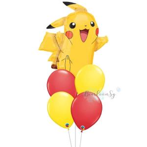 [Supershape] Pikachu Balloon Bouquet