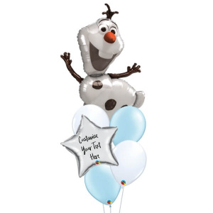 Olaf Personalised Balloon Bouquet