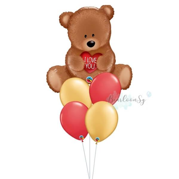 [Supershape] I Love You Teddy Balloon Bouquet