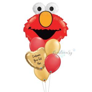 Elmo Personalised Balloon Bouquet
