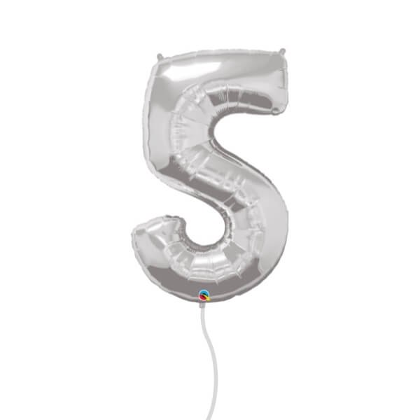 Number Foil Balloon (5 Silver)