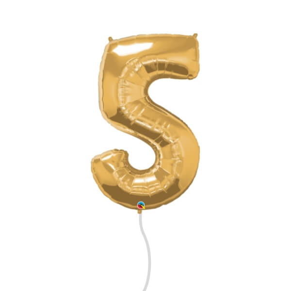 Number Foil Balloon (5 Gold)