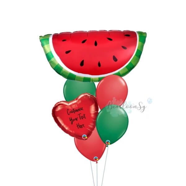 Watermelon Personalised Balloon Bouquet