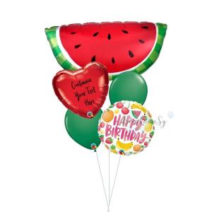 [Supershape] Watermelon Birthday Balloon Bouquet