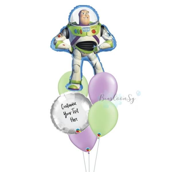 Buzz Lightyear Personalised Balloon Bouquet