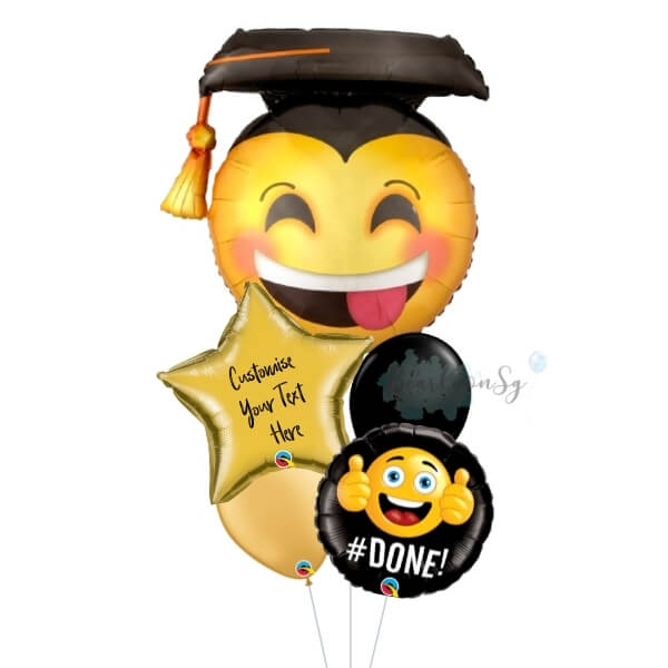 [Supershape] Awesome Grad Face Balloon Bouquet