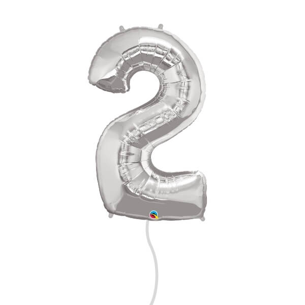Number Foil Balloon (2 Silver)