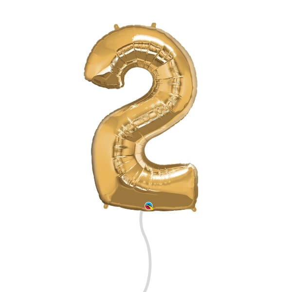 Number Foil Balloon (2 Gold)
