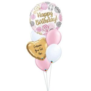 Pink Gem Birthday Balloon Bouquet