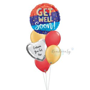 Bouncy Get Well Soon Balloon Bouquet
