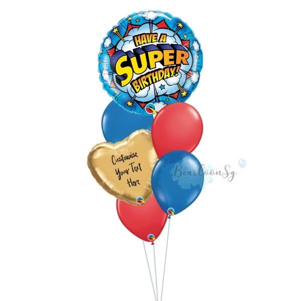 Have A Super Birthday Balloon Bouquet
