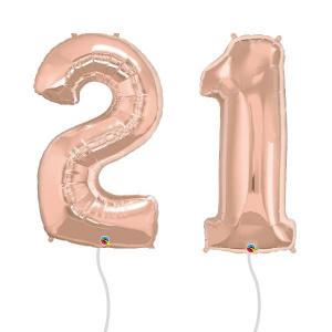 Rose Gold Number Foil Balloon