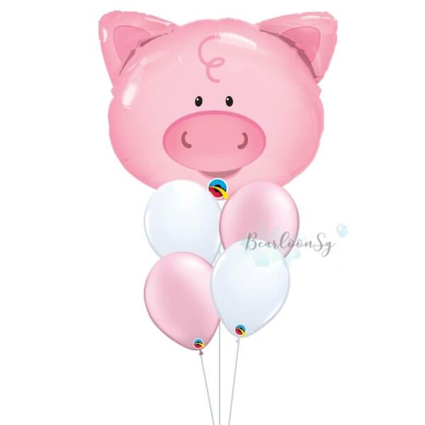 Playful Pig Balloon Bouquet