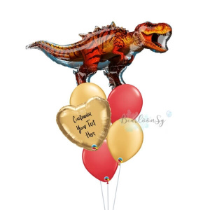 Personalised T-Rex Balloon Bouquet
