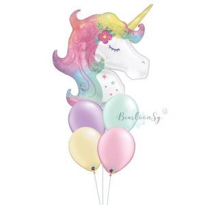 [Supershape] Enchanted Unicorn Balloon Bouquet