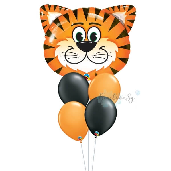 [Supershape] Tickled Tiger Balloon Bouquet