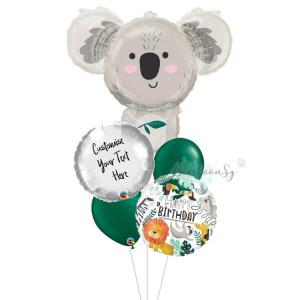 [Supershape] Koala Bear Birthday Balloon Bouquet