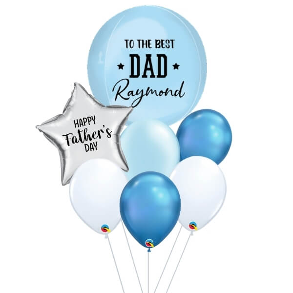 [Father's Day] Blue Orbz Balloon Bouquet